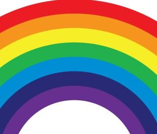 Castro crosswalk rainbow design