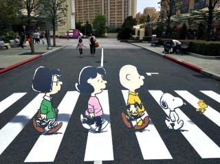 Charlie Brown Snoopy Abbey Road