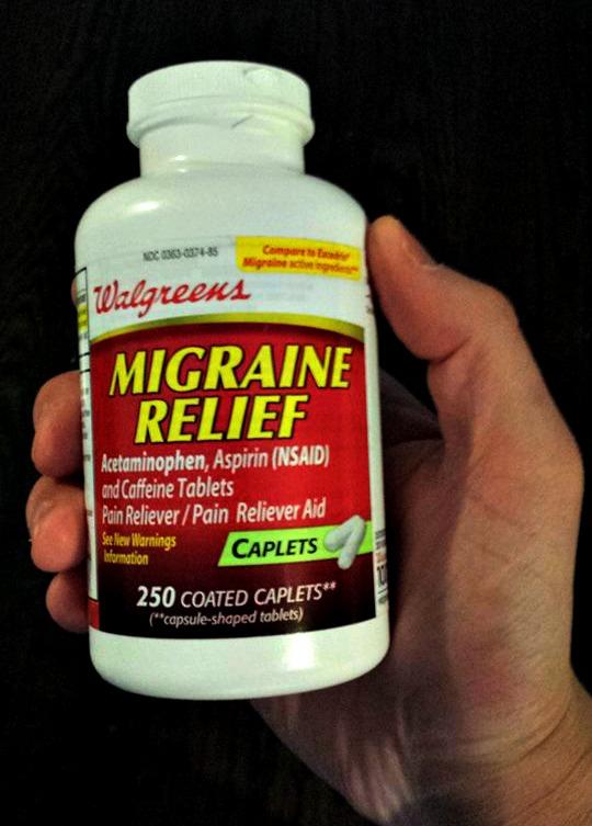 walgreens migraine relief hangover
