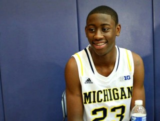 Michigan's Caris Lavert interviewed