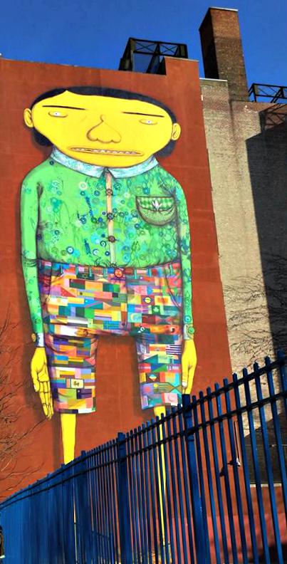 Chelsea mural street art The Giant Os Gemeos Futura