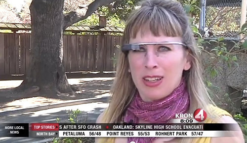 Sarah Slocum visits earth with Google Glass