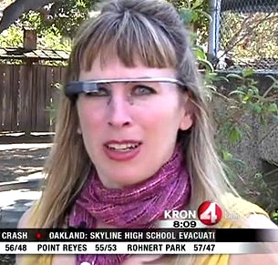 Sarah Slocum has a punchable face with or without Google Glass