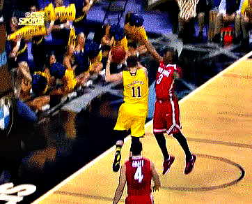 Nik Stauskas spins, goes up and under Ohio State (GIF)