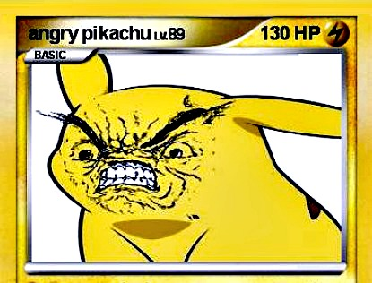 Pikachu mad and not know how to reconcile