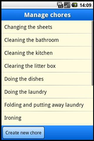 Chores that I am bad at
