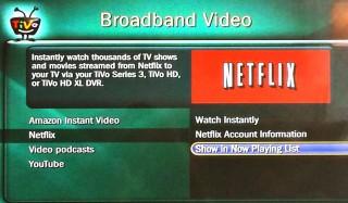 Where is Netflix on my tivo