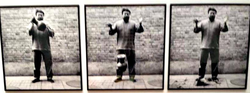 Photos of Ai Weiwei dropping priceless urn