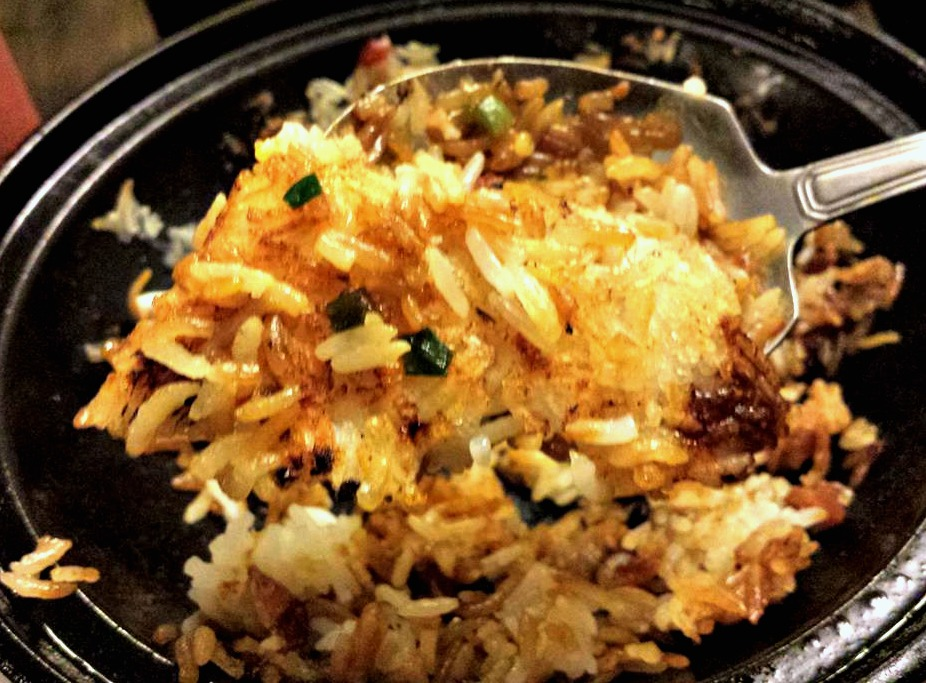 Crispy Browned Rice at the Clay Pot bottom