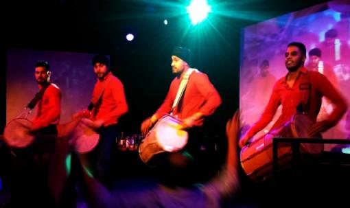 Drum line at Basement Bhangra