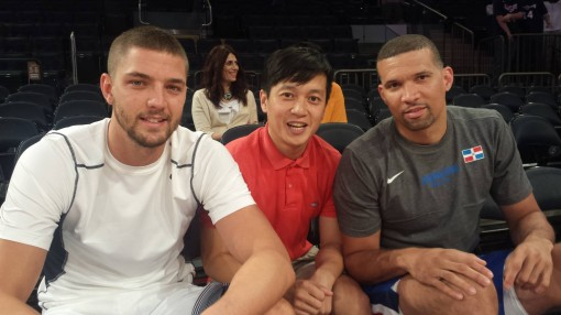 Me and Chandler Parsons and Francisco Garcia