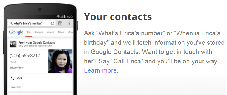 Google's 'My Answers' displays contact phone numbers in SERP