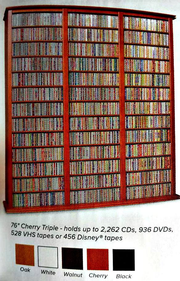 CD/DVD bookshelg holds 2000+ CDs