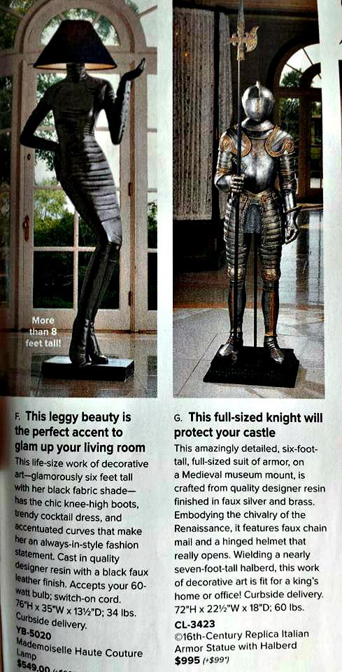 Knight Statue from SkyMall Magazine