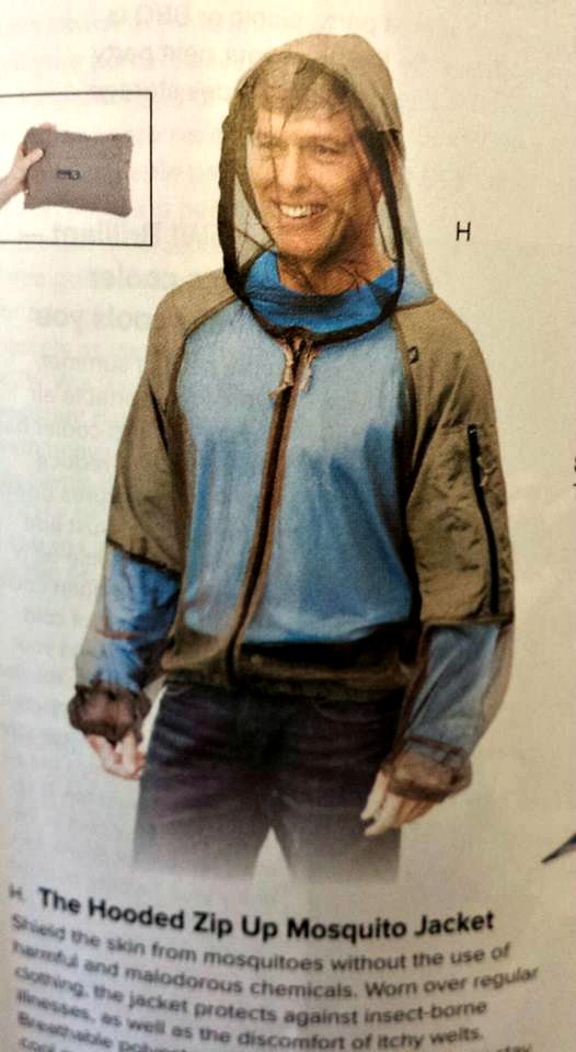 Full Mosquito protection bodysuit from SkyMall Catalog