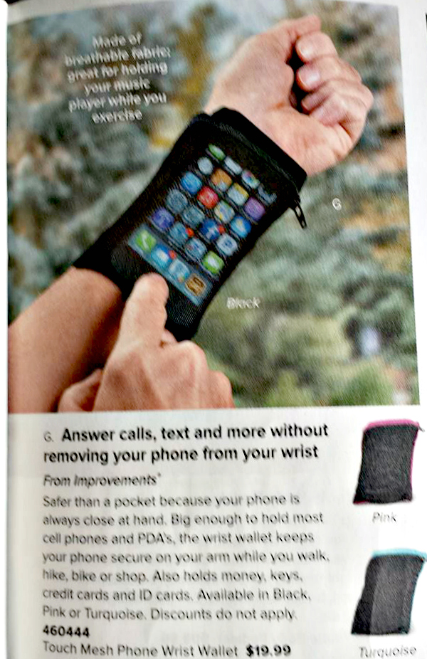 iPhone Holder on your Wrist from SkyMall Magainze