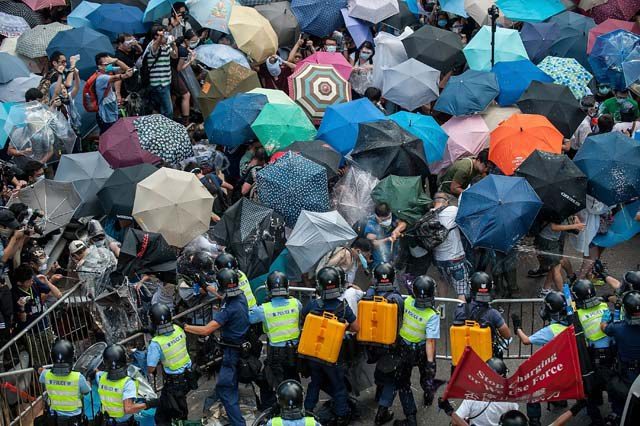 Umbrella Revolution: View from above of Hong Kong Protests