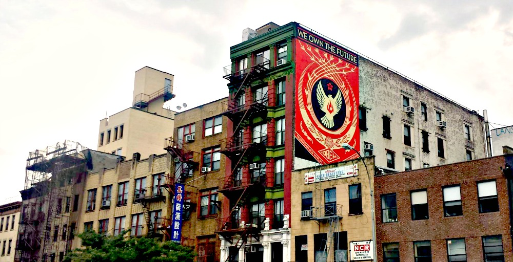 Obey Mural in Lower East Side/Chinatown