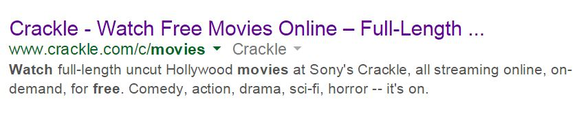 Full SEO Title Tag: Cracked - Watch Free Movies Online - Full-Length Streaming Movies""
