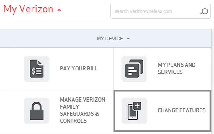 My Verizon My Device Change features
