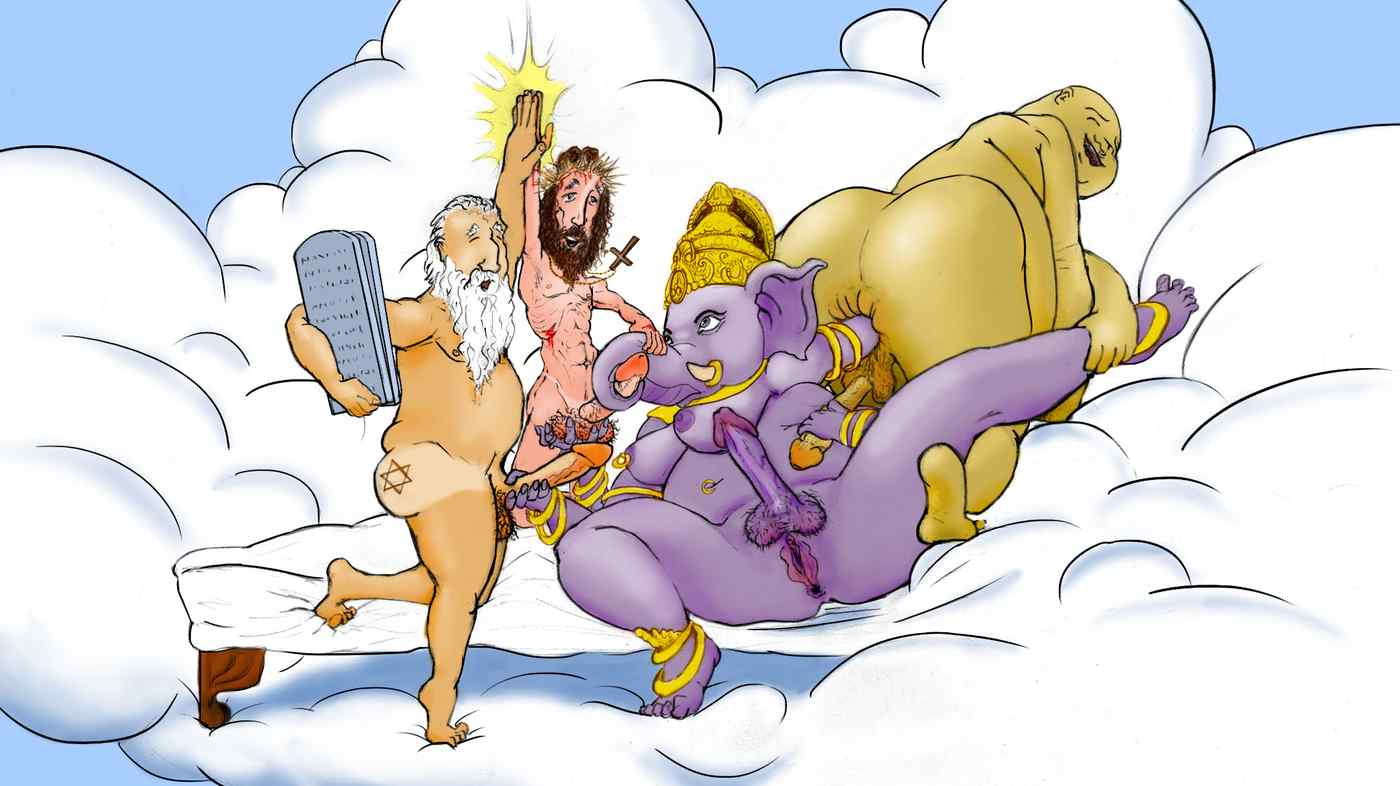 Jesus, Ganesha and Buddha walk into a gay bar….