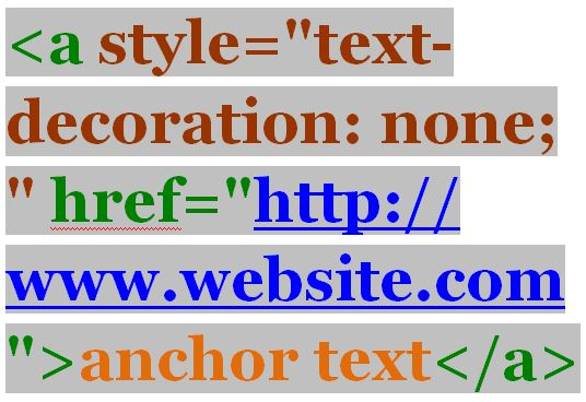How to Use HTML to stylize hyperlinks without an underline