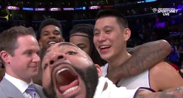 Jeremy Lin everywhere in Lakers win over the Celtics
