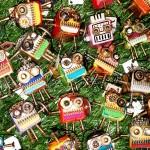 Woodman keychains