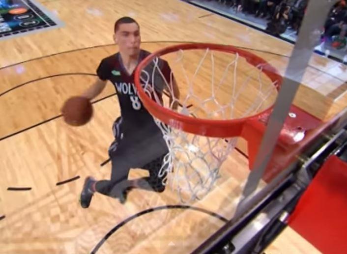 Zach Levine killed the NBA slam dunk contest