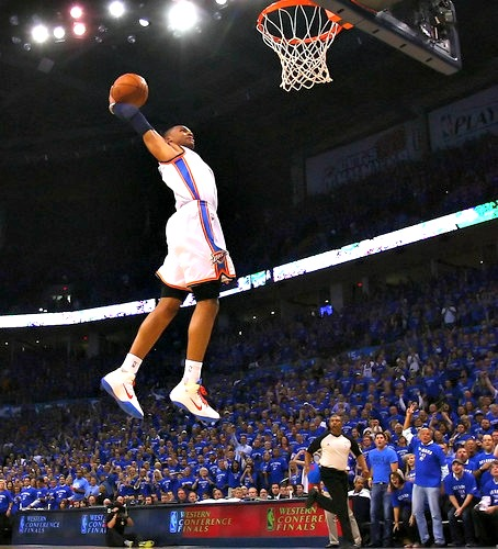 Russell Westbrook is relentless. He won't stop coming at you. Ever.