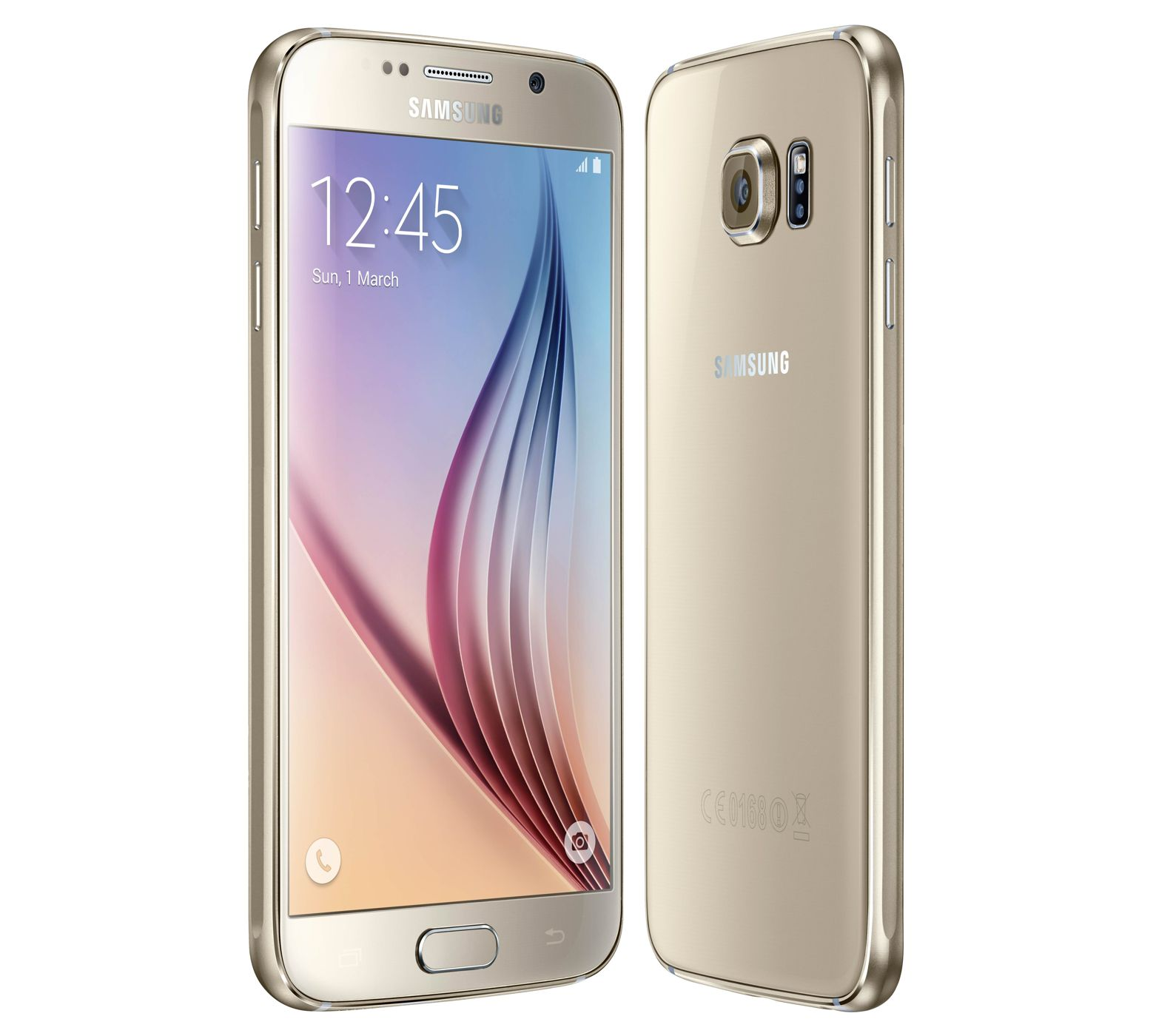 Galaxy S6 Gold-Platinum front back