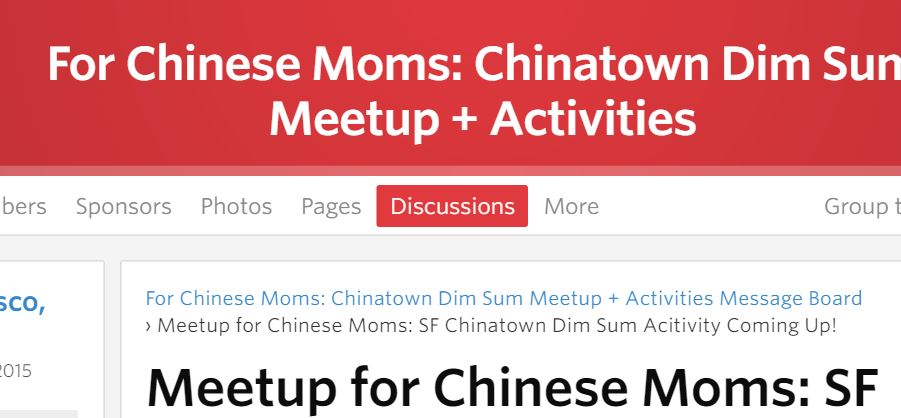 meetup for chinese moms
