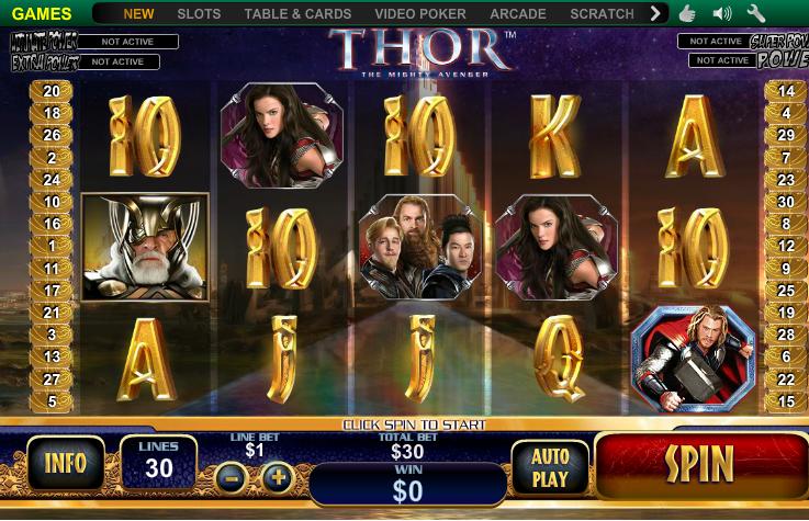 Thor slot machine games Avengers