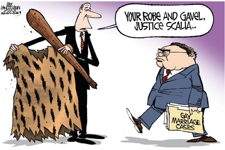 Antonin Scalia neanderthal gay marriage