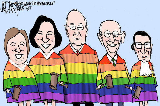 Gay marriage scotus in rainbow robes