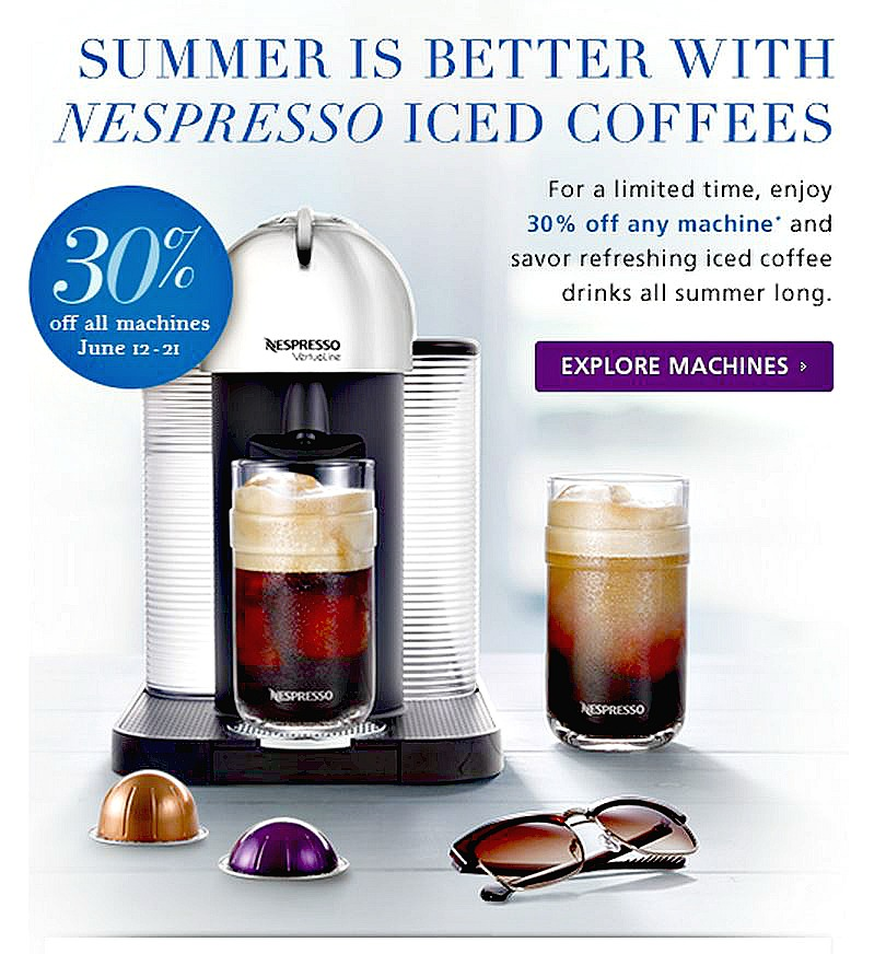 Nespresso Sale 2015: 30% off Nespresso machines