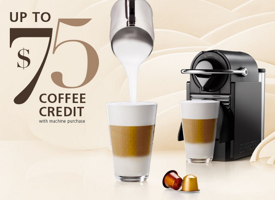 spring promotion on nespresso machines