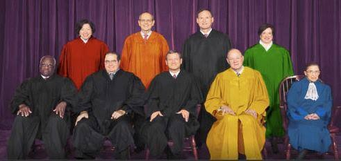 supreme court in rainbow robes