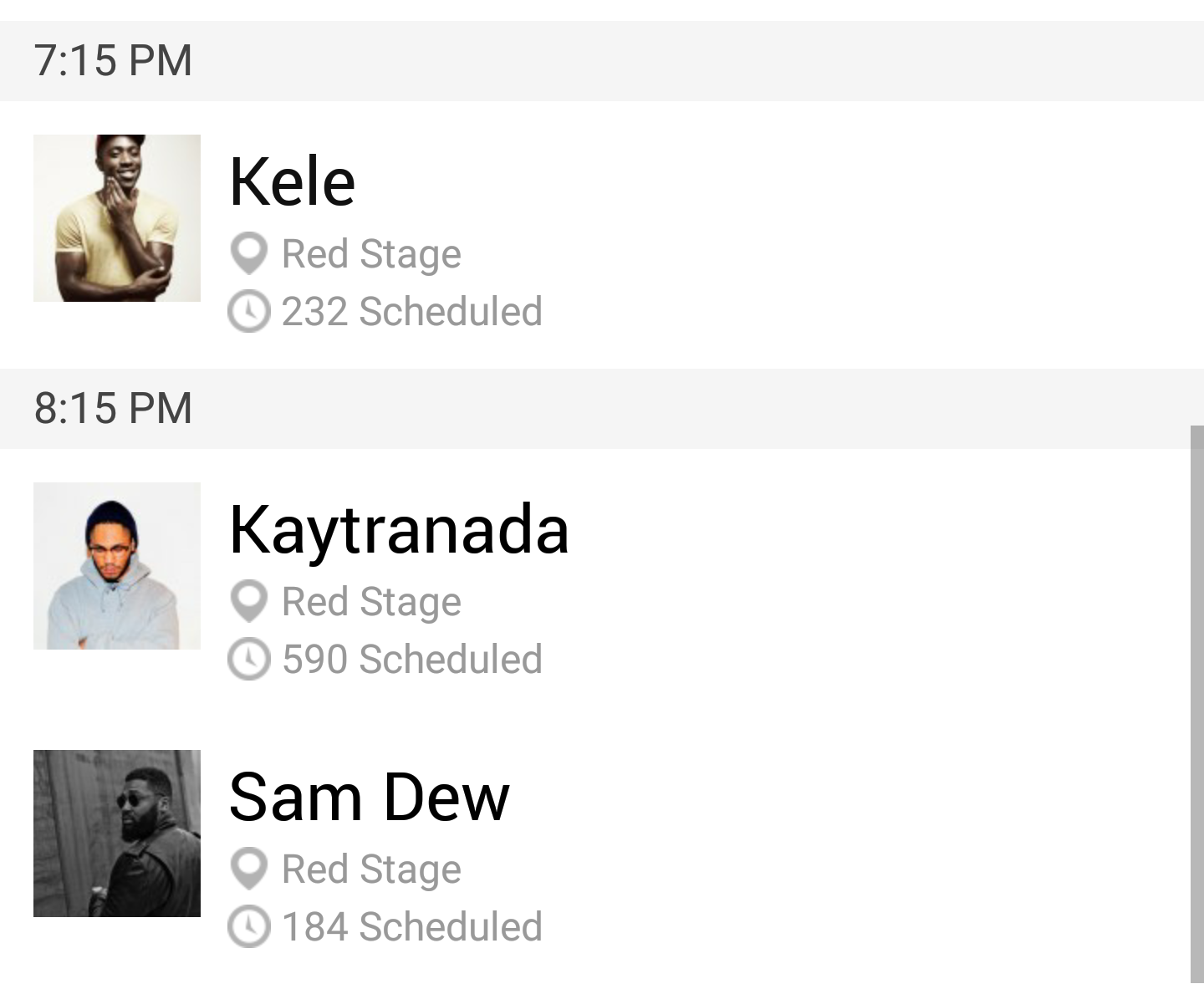 Afropunk schedule Sunday red stage