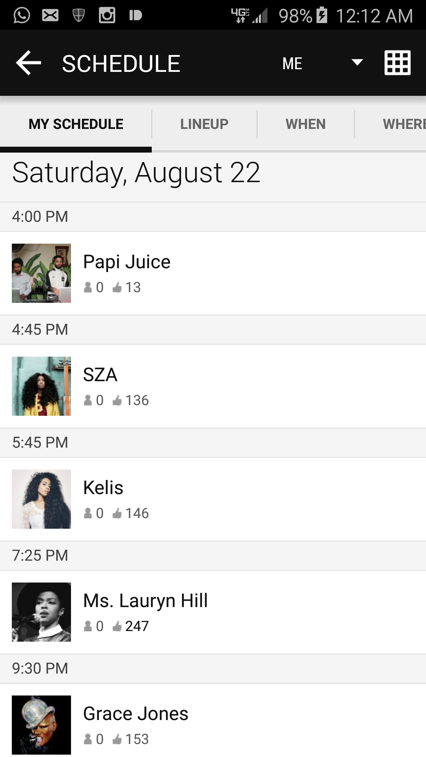 Afropunk schedule saturday schedule