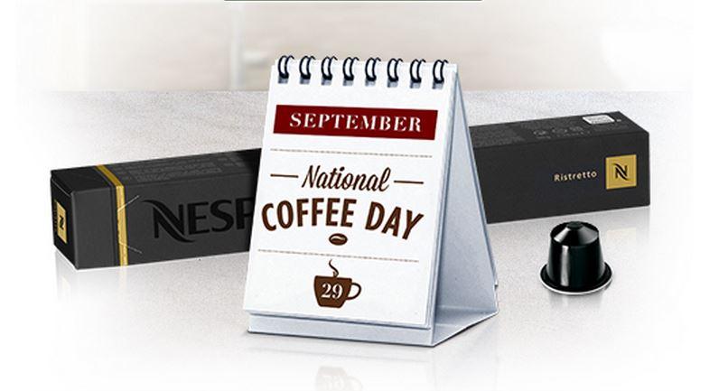 "Nespresso celebrates ""National Coffee Day"" with ""Buy 10 Get 1 Free"""