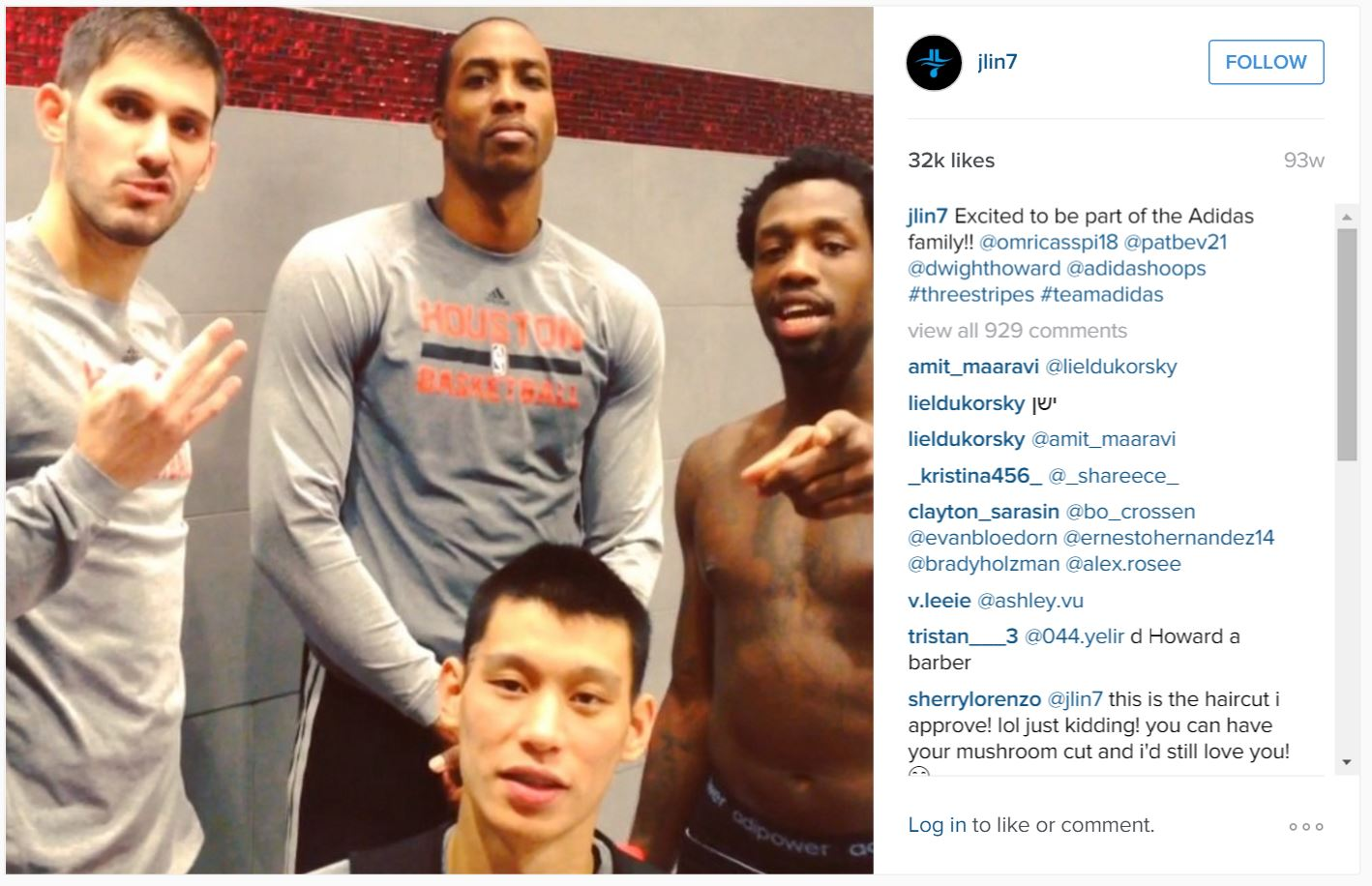 Jeremy Lin joins adidas haircut special