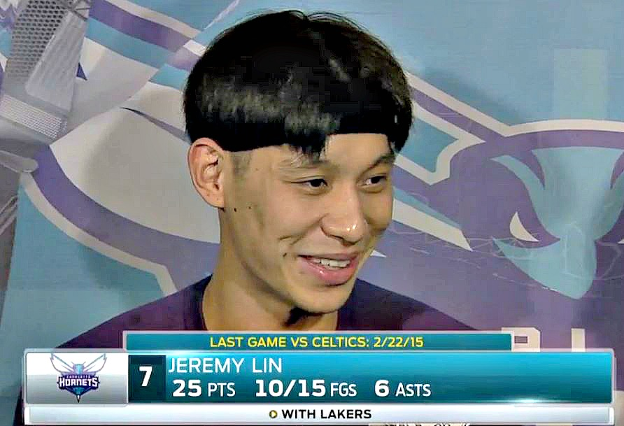 Jeremy Lin bowlcut with double widows peak?
