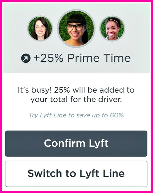 "I love using Lyft Line, but good luck getting a car during ""Prime Time"""