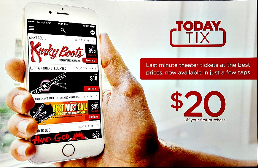You can still get $20 off on TodayTix tickets with this code
