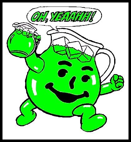 Green poop kool aid