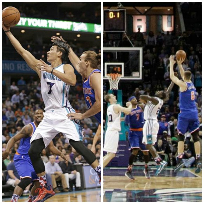 Jeremy Lin's heroics for Hornets nearly shot down by Kristaps Porzingis
