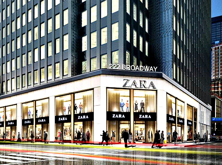 The new Zara in FiDi (across from Fulton Transit Center) is now open
