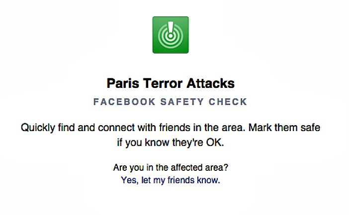 facebook safety check paris attacks screenshot