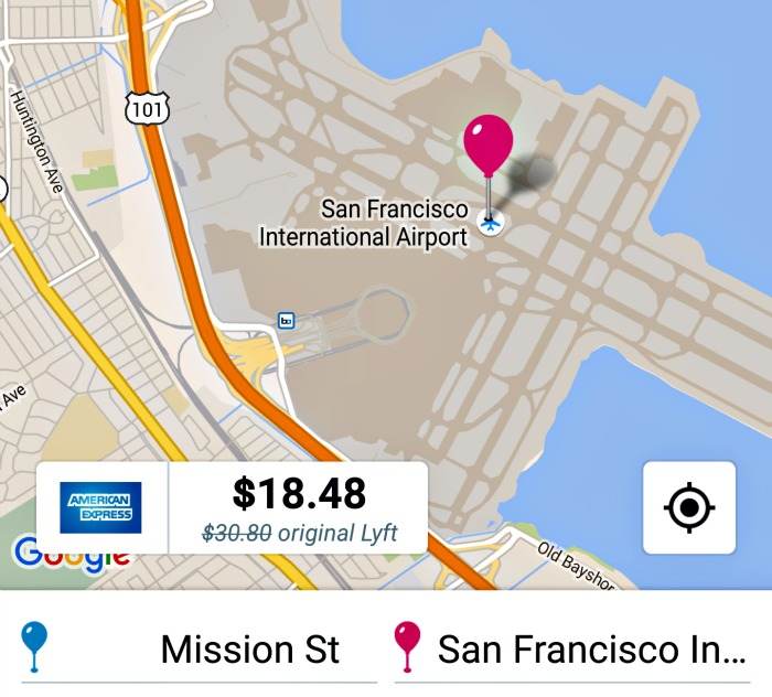 How much does it cost to take a Lyft from San Francisco to SFO airport?